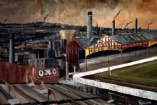 Bradford City - Valley Parade - 'To the place I belong' Box Canvas Print - 30'' x 20''